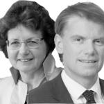 Theo Hooghiemstra en Lies van Gennip